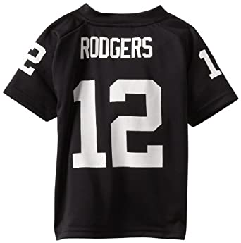 NFL Green Bay Packers Aaron Rodgers 4-7 Youth Black Player Replica Jersey, Black, 4
