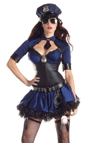 Womens Sultry Cop Police Halloween Costume sz XL 14-16
