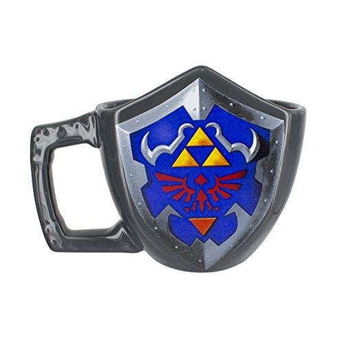 "Ufficiale di The Legend of Zelda 3D scolpito scudo tazza di caffè - Nintendo ""in box"""