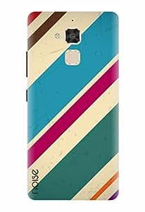 Noise Designer Printed Case / Cover for Asus ZenFone 3 Max ZC520TL / Patterns & Ethnic / Blue diagnols Design
