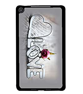 PrintDhaba Love D-1175 Back Case Cover for ASUS GOOGLE NEXUS 7 2013 (Multi-Coloured)
