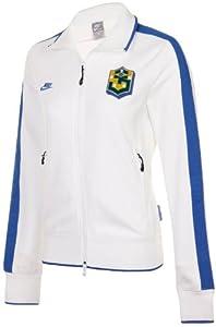 Nike Brasilien N98 Damen Trainingsjacke, Weiß, Größe L