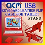 USB KEYBOARD CASE RED For SAMSUNG GALAXY TAB 2 P5100 TABLET FLIP COVER
