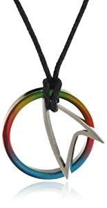 Star Trek Men's Titanium Starfleet Colored Infinity Pendant Necklace