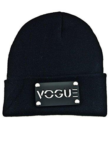 Beanie Mütze Hat Wintermütze Cap Unisex Strickmütze Bad Hair Day (Vogue Schwarz)