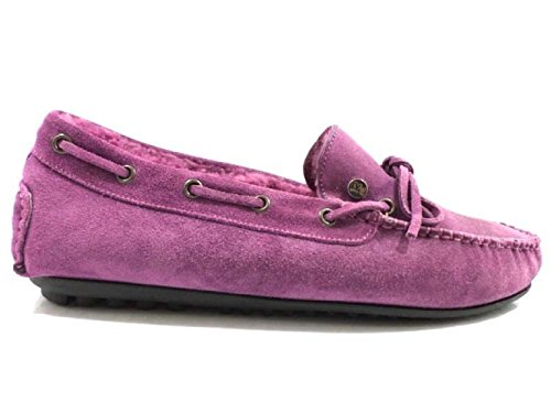 scarpe uomo ROY ROGERS 43 EU mocassini viola camoscio WH153