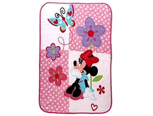 Disneys Disneys Minnie Mouse brightly colorful ultra-plush luxury throw for newborns