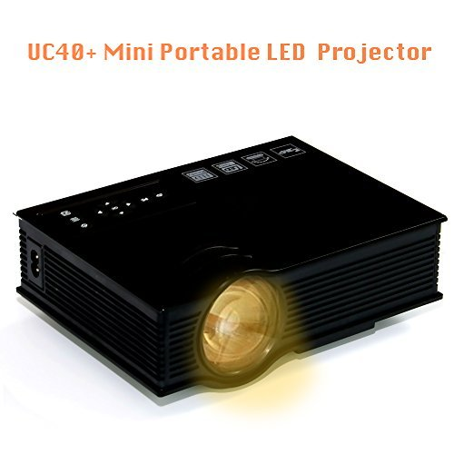 Portable Multimedia Mini LED Projector UC40+ Home Cinema Theater 800 Lumens Projection with USB VGA HDMI SD Card AV for Party,Home Entertainment,20000 Hours Led life with Remote Black Color