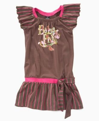 Baby Phat Girls Striped Flutter-Sleeve Dress - Buy Baby Phat Girls Striped Flutter-Sleeve Dress - Purchase Baby Phat Girls Striped Flutter-Sleeve Dress (Baby Phat, Baby Phat Dresses, Baby Phat Girls Dresses, Apparel, Departments, Kids & Baby, Girls, Dresses, Girls Dresses)