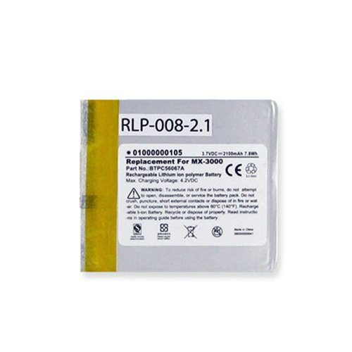 Universal MX-3000i Removed Control Battery RLP-008-2.1 Li-Pol 3.7V (2100 mAh) - Replacement For Crestron MT-1000C-BPT and Universal BTPC56067A