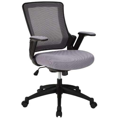 LexMod View Office Chair with Mesh Back and Gray Padded Seat