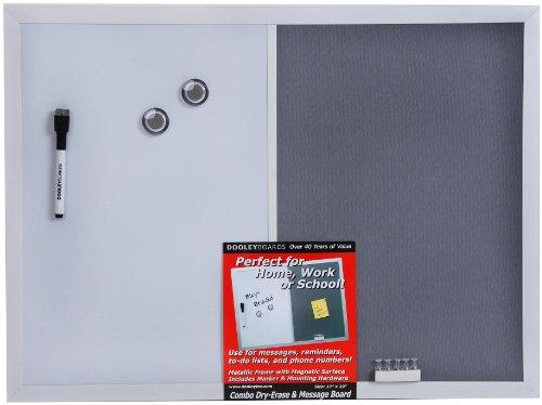 Dooley Aluminum Framed Magnetic Combo Board, 11 x 17 Inch, 1 Board (117MSMGA)
