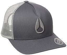 Nixon Men\'s Iconed Trucker Hat, Dark Grey, One Size
