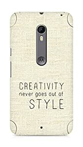 AMEZ creativity never goes out of style Back Cover For Motorola Moto X Style