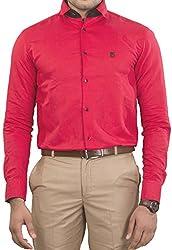 Unkonventional Men's Casual Shirt (unkmonredzxl_Red_42)