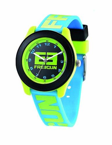 ffff18274e66a Freegun - EE7003 - Montre Mixte - Quartz Analogique - Cadran Noir - Bracelet  Plastique Bleu