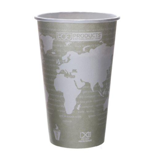 Eco-Products Ep-Bhc16-Wa 16 Oz World Art Hot Cup (20 Packs Of 50)