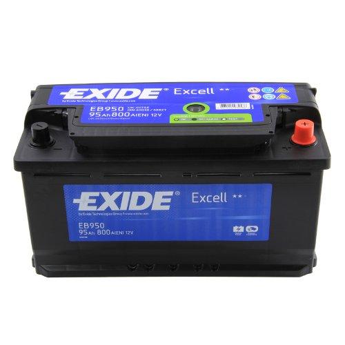 exide excell eb950 95ah autobatterie wartungsfrei. Black Bedroom Furniture Sets. Home Design Ideas