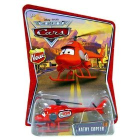 "Disney Pixar World of Cars New"" Badge Carded KATHY COPTER 1:55 Vehicle"" [Toy] - 1"