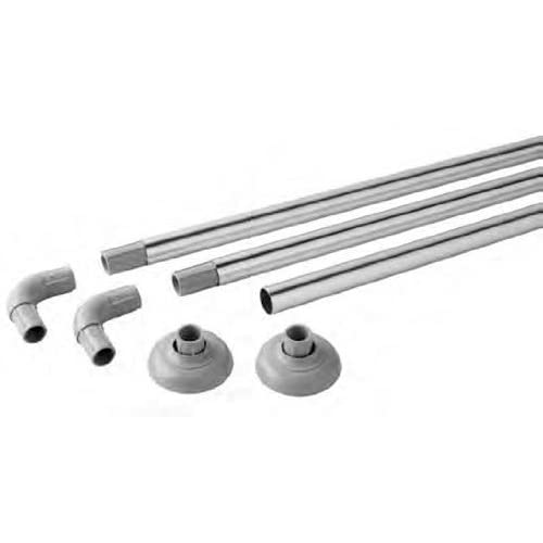 Silver Aluminium Modular Shower Rail Can Make 4 Shapes