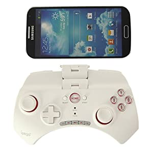 Kingsource (TM) Bluetooth Controller Android Wireless Game Controller Gamepad Joystick for iPhone/iPod/iPad/Android Phone/Tablet PC with retail package color white