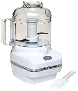 KitchenAid KFC3100WH Chef Series 3-Cup Food Chopper, White