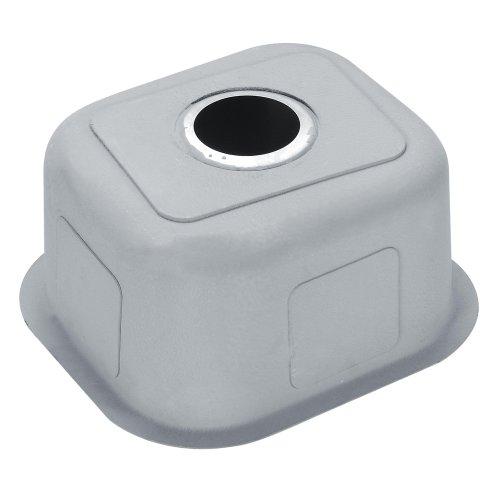 Buy Kraus KBU17 15-Inch Undermount Single Bowl 18 Gauge Kitchen Sink, Stainless Steel