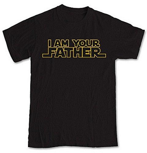 """I Am your Father ispirato Starwars Nero-Maglietta a maniche corte della nostra maglietta unico 8 cm. compleanno di Natale o di un'originale idea regalo per mamma, papà, fratello, motivo: """"sister, o anche la nonna. Nero nero Large"""