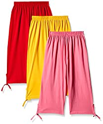 Sini Mini Colorful Plain Capri 3pcs Combo