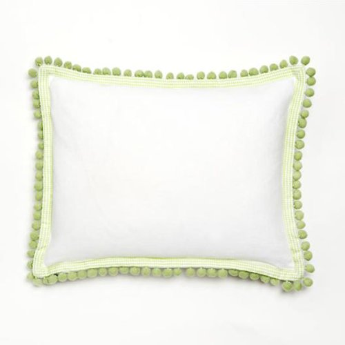 Green Pom Pom Decorative Pillow front-551358