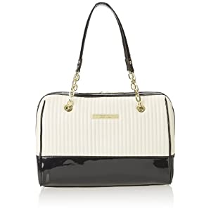 Anne Klein Change The Channe Duffle Medium Top Handle Bag,White/White,One Size