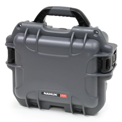 Nanuk 905 Case With Cubed Foam (Graphite) Color: Graphite Style: Cubed