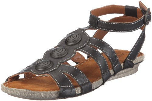 Josef Seibel Women's Venus Black Formal Sandal 81211 4 UK