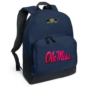 Amazon03035 Ole Miss Backpack Navy Blue University Of