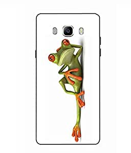 Case Cover Funny Frog Printed White Soft Back Cover For SAMSUNG Galaxy On8