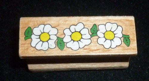 Happy Flowers Rubber Stamp - 1