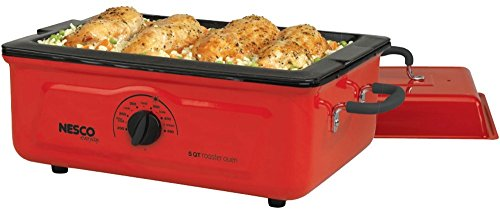 """5-Quart Porcelain Roaster Oven *** Product Description: 5-Quart Porcelain Roaster Ovenadd A Small, Dependable, Portable Oven To Your Kitchen With A Nesco Roaster. It Does Everything Your Big Oven Does, Except Broil And It Offers A """"Circle Of Heat ***"""