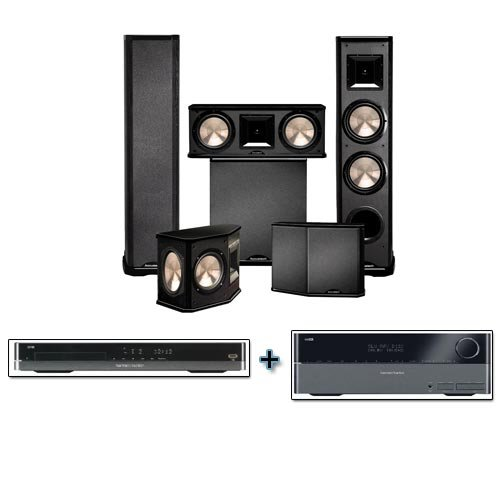 Harman Kardon Avr-2600 With Bic Acoustech Pl-89 Home Theater System