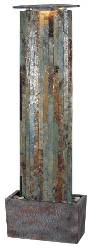 Kenroy Home #50255SL Waterwall Indoor/Outdoor Floor Fountain in Natural Slate Finish