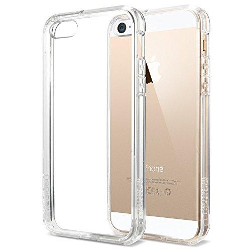 国内正規品 Spigen iPhone 5s / 5 ケース ウルトラ・ハイブリッド クリア バンパー (エアクッションテクノロジー) (日本製 液晶保護 フィルム付) [クリスタル・クリア] SGP10640