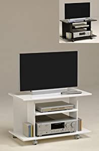 pharao24 tv m bel fernsehtisch auf rollen peppo farbe wei. Black Bedroom Furniture Sets. Home Design Ideas
