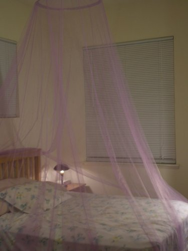 Lavender Purple Hoop Bed Canopy Mosquito Net Fit Crib, Twin, Full, Queen, King