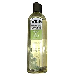 Dr. Teal\'s Body and Bath Oil With Eucalyptus Spearmint, 8.8 FL OZ Pack of 4