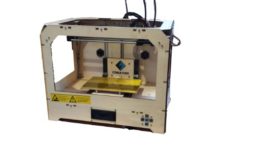 Dual Extruder 3D Printer - 2013 opensource .STL,.gcode - 2 Rolls ABS Included (Wood)