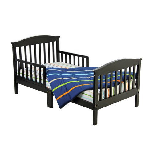 This Black Kids Toddler Platform Bed Frame Makes a Perfect ...