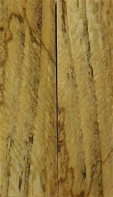 """Oak Tiger Spalted/Stabilized 2 Pc Knife Scales 3/8"""" X 1 1/2"""" X 5"""" 27"""