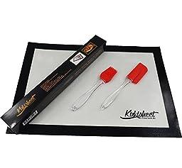 KuKisheet Silicone Baking Mat 16.25 X 11.5 Inches Professional Grade-baking Mat Set of One With Spatula And Basting Brush