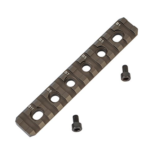 11 Slot Tactical Picatinny Rail Section for MOE Hand Guards (Tan) (Steel Picatinny Rail Blank compare prices)