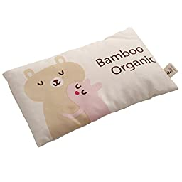 Organic Baby and Toddler Bamboo Pillow, Better Neck Support and Sleeping