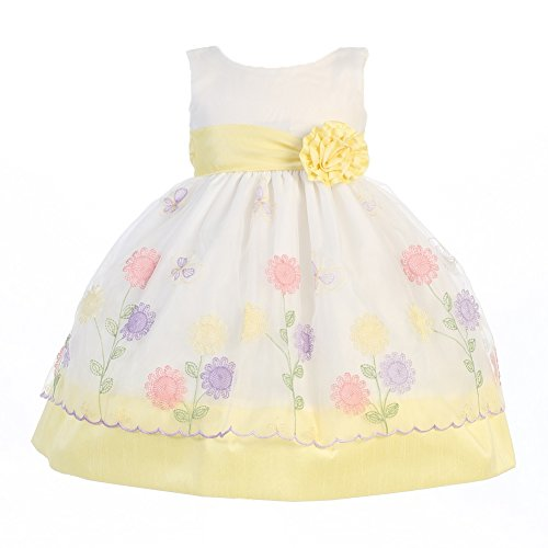 Baby Easter Dresses. Welcome springtime with beautiful baby Easter dresses. Find bright floral patterns and solid colors in apparel that looks great and is comfy, too.